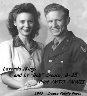 Laverda and Bob in 1943 at Beloit College.