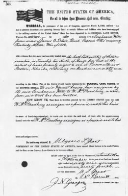 Blair, James G War of 1812 Bounty Land Warrant MW-0297-360 Jefferson NE.jpg