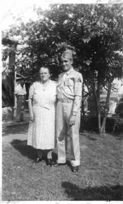Julia Satmary Kover and son, Paul Kover.  approx. 1943