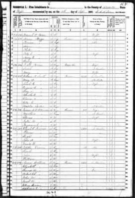1850 Census with Aaron Collins Family
