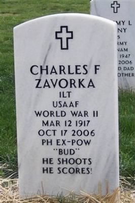 Charles Fred Zavorka Grave Stone at Jefferson Barracks National Cemetery