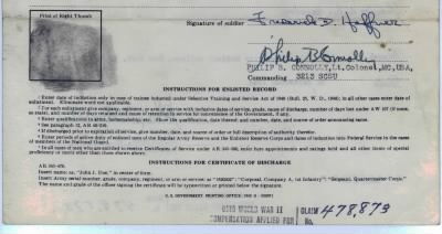 Is this the back of the Honorable Discharge papers-scanned in pieces due to 10MB req