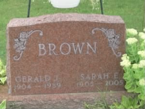 browns headstone
