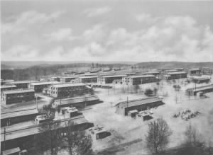 Barracks at Camp Pike circa 1918 (renamed Camp Joseph T. Robinson in1937)