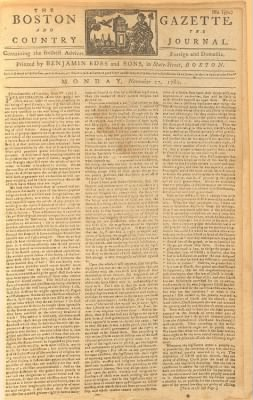 The Boston Gazette and Country Journal