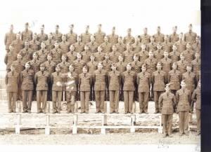 left side of Company C, 18th Armored Replacement Battalion