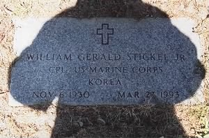 Grave of William Gerald Stickel, Jr.