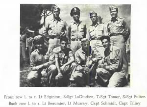 Lt George Tilley with his Combat CREW  in the MTO- 1945