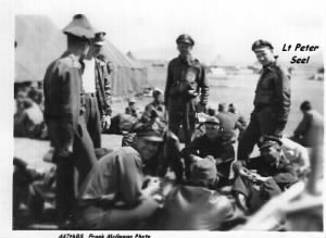 Peter Seel and the Officers near the Tents, N Africa, 1943 /McGowan Photo