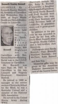Kenneth Boswell Obituary