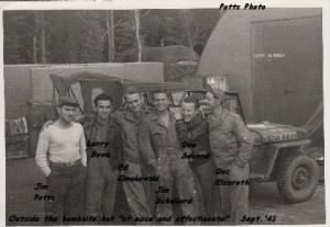 "B-17 Ground Crew, 100th BG, Nether Warton, ETO ""Don Secord"" and friends /Potts Photo"