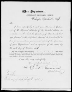 Letters Received by the Adjutant General, 1871-1880