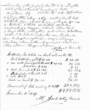 Jacob Doub Estate Record 1837.jpg