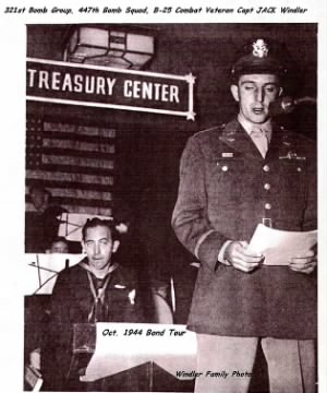 Returning from COMBAT, Capt Windler went on a BOND selling Tour. (Oct.'44)