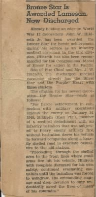 Newspaper Article After Discharge