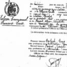 Copy of his French birth certificate