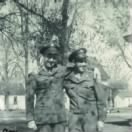 4th Army Infantry Division/ Left)  Ray Fagen with friend Bud Messerli.