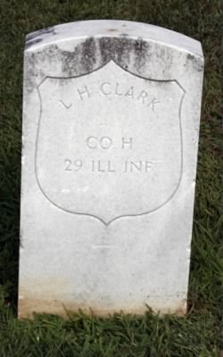 Headstone of Lewis H Clark