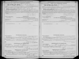 Marriage License A C Gamel & Mary Canada Harris