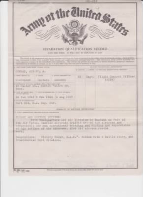 Army of the United States Separation Qualification  Record, side 2