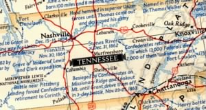 MAP OR TENNESSEE