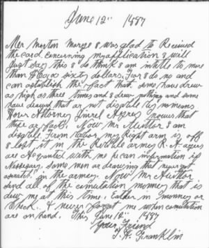 Thomas Henry Franklin pension application