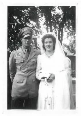 1942 Lt Robert F Killian and his bride Lora.
