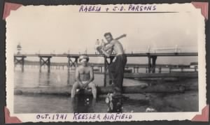 Louis Rabesa Jr. and ND Parson at Keesler Airfield