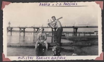 Louis Rabesa Jr. and ND Parson at Keesler Airfield - Fold3.com