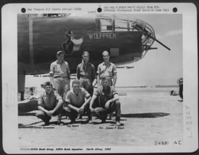 428th BS, Myers, Loy G., S/Sgt, turret-gunner / Shot-Down an Me-109!!!!!!! - Fold3.com