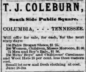 Thomas J. Coleburn 1872 Clothing Ad.JPG