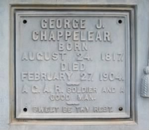 Sgt George Johnson Chappelear Army Headstone