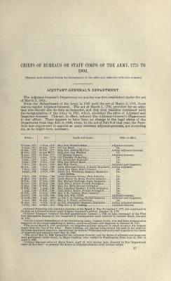 Part I - Chiefs of Bureaus or Staff Corps of the Army › Page 1 - Fold3.com