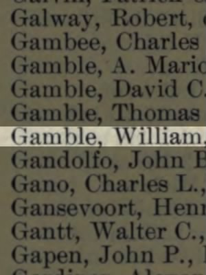 Gamble, William