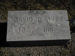 Pvt David D Avey Army Headstone