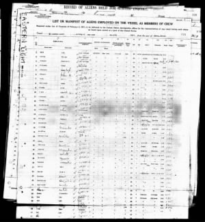 NEW YORK PASSENGER LIST FOR MADESTO MARPIL