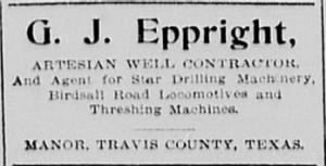 G J Eppright 1897 Artesian Well Ad.JPG