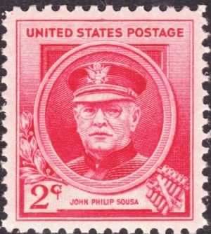 John Philip Sousa 1940 Issue 2c US Postage stamp