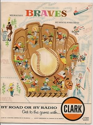 1957 Milwaukee Braves Program