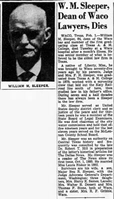 Wm M Sleeper Feb 1944 Obit.gif