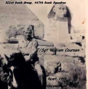 Bill Coursen in Egypt, R & R from Combat in the MTO