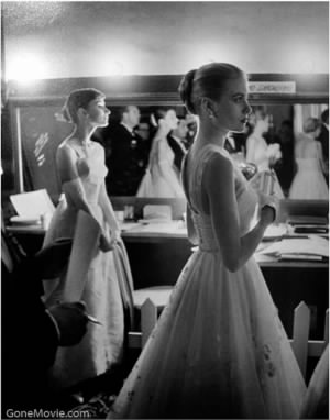 Audrey Hepburn and Grace Kelly at the 1954 Oscars
