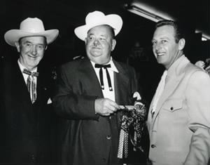 Laurel and Hardy with Rand Brooks