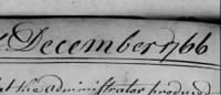 Dec. 1766 Bucks Probate, Evan Thomas JR