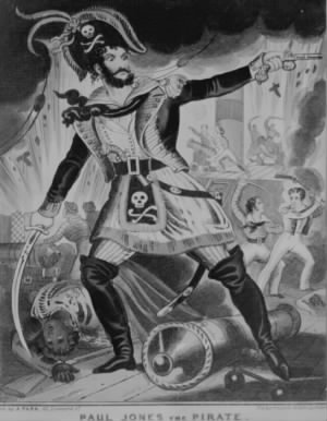 British caricature of John Paul Jones