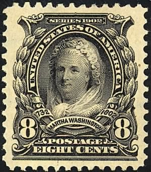 Martha Washington On Stamp