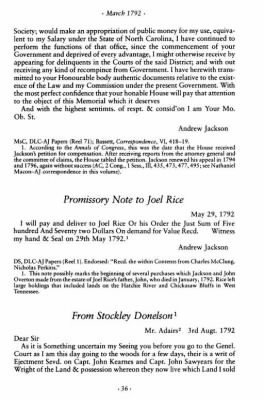 Stockley Donelson to A Jackson re Jer Chamberlain1.JPG