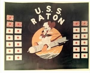 USS RATON (SS-270) - Battle Flag