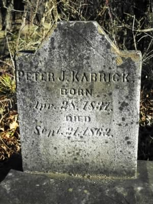 Peter Jeremiah Kabrich tombstone at Lovettsville Cemetery, Loudon County, Virginia.jpg