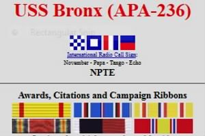 USS Bronz APA-236 Awards and Citations.jpg